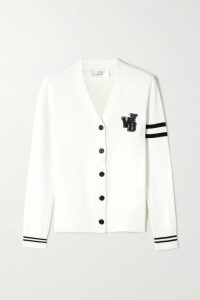 Fendi - Shearling-trimmed Wool-blend Jacquard Coat - Pink