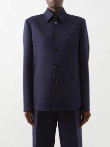 Worme - The High Neck Sandwashed Silk Shift Dress - Womens - Khaki