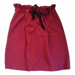 Burgundy Polyester Skirt