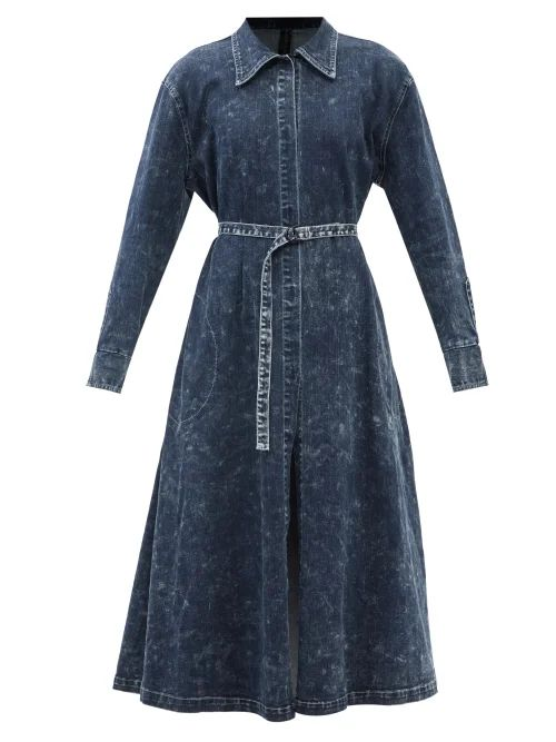 Rochas - Tulip Print Halterneck Duchess Satin Dress - Womens - Black