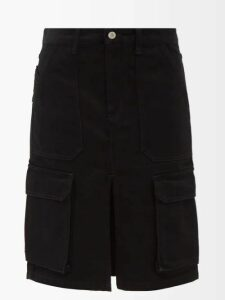 Osman - Emme Double Breasted Faux Leather Trench Coat - Womens - Brown