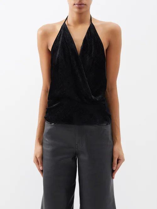 Cecilie Bahnsen - Peach Cotton Blend Floral Crochet Dress - Womens - Black