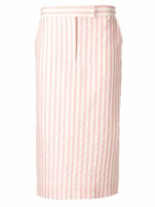 Thom Browne Wide Bar-Stripe Sack Skirt - Pink