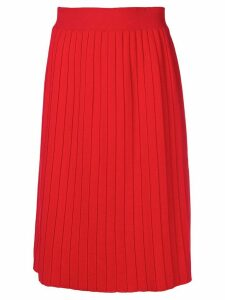 Chinti & Parker high-waist pleated skirt - Red