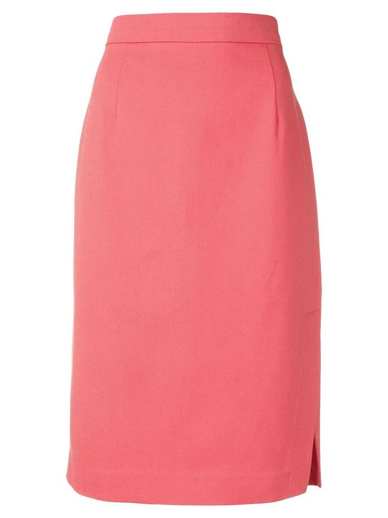 Emporio Armani side slit skirt - Pink