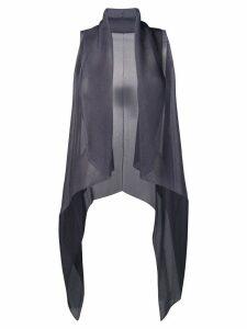Emporio Armani sheer gilet top - Grey