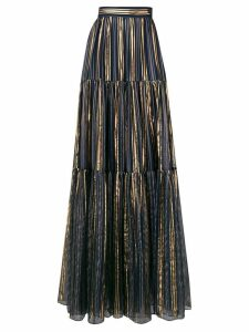 Peter Pilotto lurex striped chiffon skirt - Blue