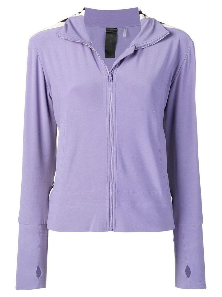 Norma Kamali side stripe turtle jacket - Purple