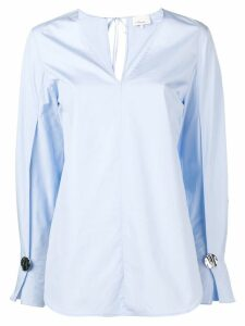 3.1 Phillip Lim contrast button cuffs shirt - Blue