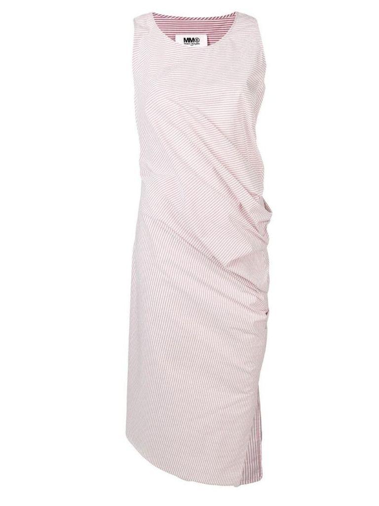 Mm6 Maison Margiela draped striped dress - Pink