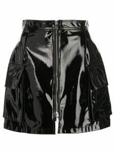 Natasha Zinko zip front mini skirt - Black