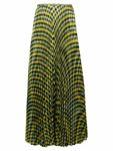 Joseph pleated check skirt - Yellow