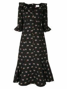 Erdem floral print dress - Black