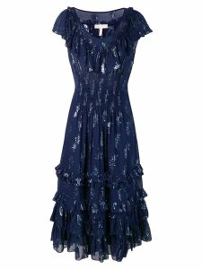 Rebecca Taylor metallic star dress - Blue