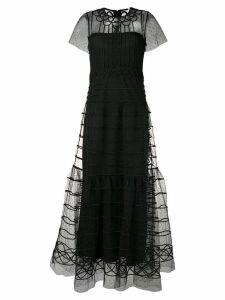 Red Valentino tulle layered gown - Black