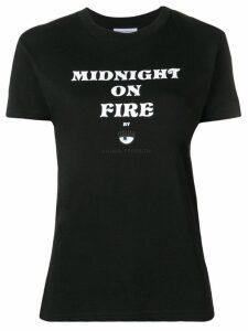 Chiara Ferragni Midnight On Fire T-shirt - Black