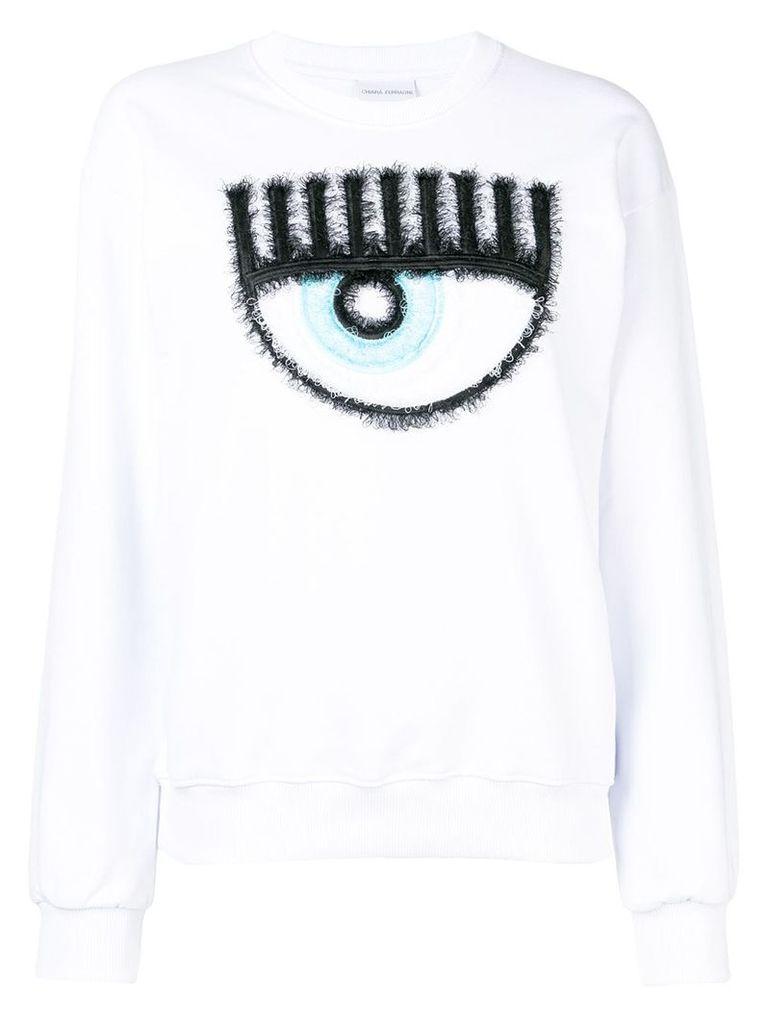 Chiara Ferragni logo sweatshirt - White