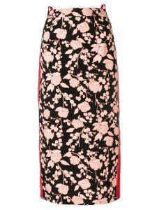 Pinko floral print midi skirt - Black