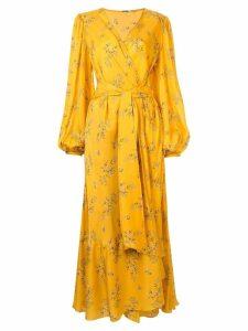 Johanna Ortiz Exotic print wrap dress - Yellow