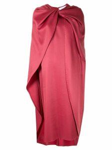Marina Moscone panelled midi dress - Red