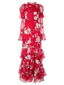 Erdem floral print evening dress - Red