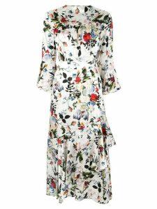Erdem floral print dress - White