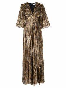 Peter Pilotto striped metallic gown - Gold