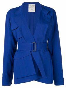Maison Rabih Kayrouz belted utility jacket - Blue