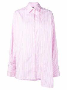 Rokh asymmetric striped shirt - Pink