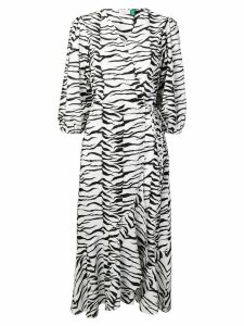 Rixo tiger print dress - White