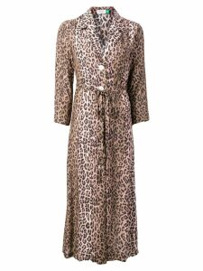 Rixo leopard print dress - Brown
