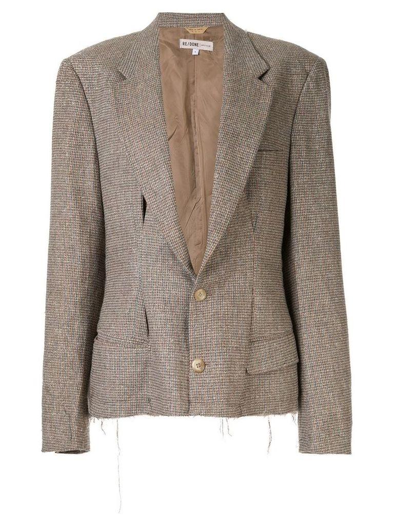 Re/Done deep V-neck blazer - Brown