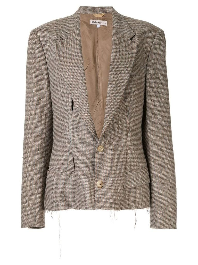 Re/Done deep V-neck blazer - Brown