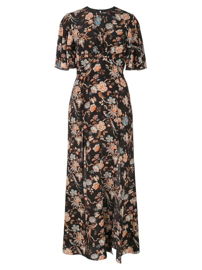 Les Reveries Liberty Jannah print maxi dress - Black