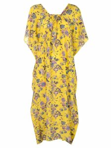 Les Reveries Liberty Jannah print midi dress - Yellow