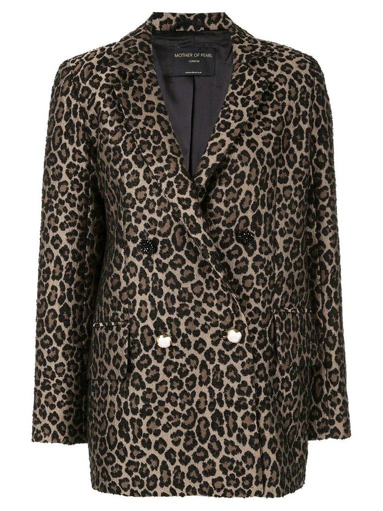 Mother Of Pearl leopard print blazer - Brown