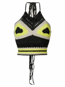 AMBUSH waves crochet top - Black