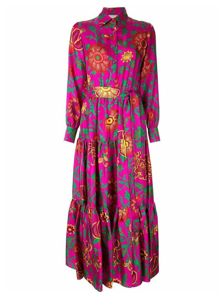 La Doublej printed belted shirt dress - Purple