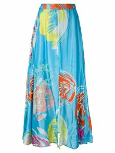 All Things Mochi abstract floral print skirt - Blue