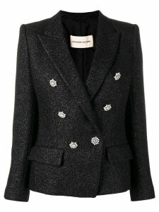Alexandre Vauthier shiny tweed blazer - Black