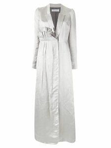 Marina Moscone ruffle detail dress - Grey
