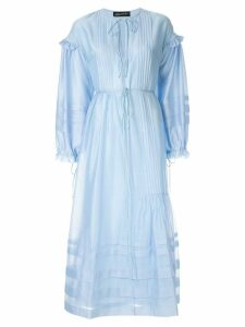 Anna October string tie maxi dress - Blue