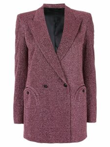 Blazé Milano glitter double breasted jacket - Pink