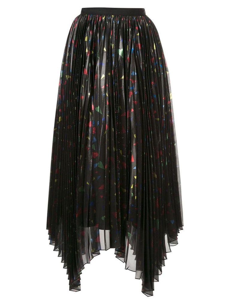 Semsem pleated asymmetric skirt - Black