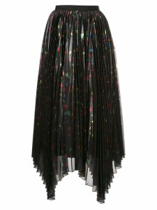 Semsem pleated asymmetric skirt - Black