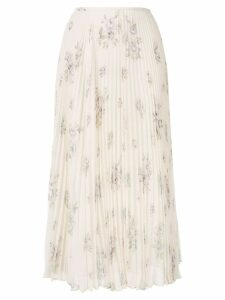 Joseph floral pleated midi skirt - NEUTRALS