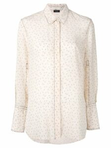 Joseph embroidered ditsy floral shirt - White