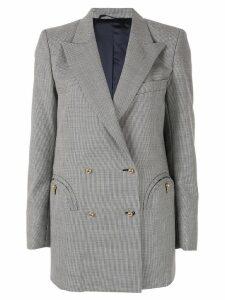 Blazé Milano micro check double breasted jacket - Grey