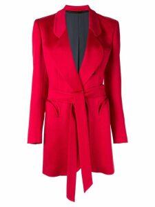 Blazé Milano tie waist longline blazer - Red