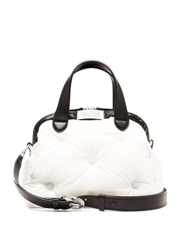 Maison Margiela - Glam Slam Quilted Bowling Bag - Womens - Black White